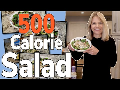 What a 500-Calorie, Low-Carb/High Fat Salad Looks Like