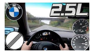 BMW E46 323i 170Hp Manuel POV Acceleration & Top Speed Drive on German Autobahn by NoSpeedLimitTV