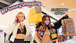 23rd BIRTHDAY LUXURY HAUL! Come shopping at dior and fendi with us!