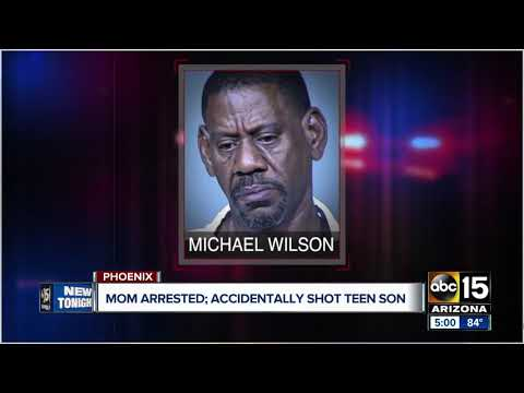 Mom arrested, accidentally shot teen son