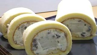 芋頭奶凍蛋糕捲/奶凍外層包裹著吃得到顆粒的芋頭鮮奶油 滿滿的芋頭香/烤盤28x24.5x3cm
