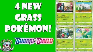 Maractus  - (Pokémon) - 4 New Grass Pokemon Cards Revealed! (Sword & Shield TCG!)