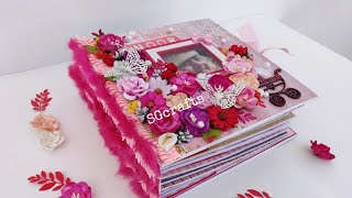 Scrapbook for baby girl || Scrapbook for birthday || Baby shower || First cry