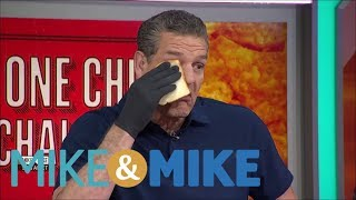 Mike & Mike crew does the 'One Chip Challenge'   Mike & Mike   ESPN