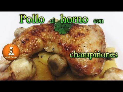 Pollo al horno con champiñones y patatas/FyRAmpisRecetas