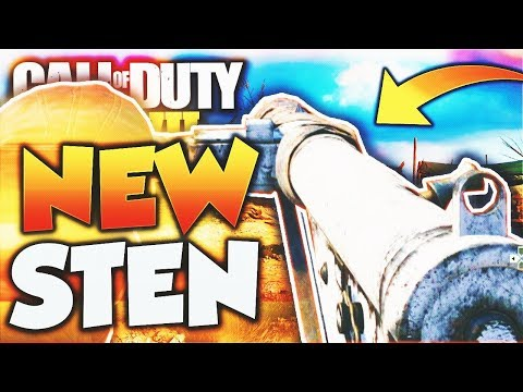 "The ""STEN"" DLC WEAPON in Call of Duty WW2! NEW WW2 STEN SMG DLC WEAPON Gameplay! (WW2 New DLC GUN)"