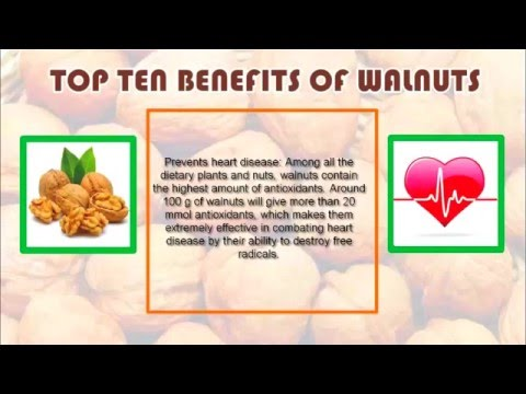 Video Top 10 health benefits of walnuts