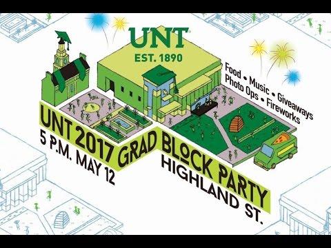 UNT Graduation Block Party - 2017