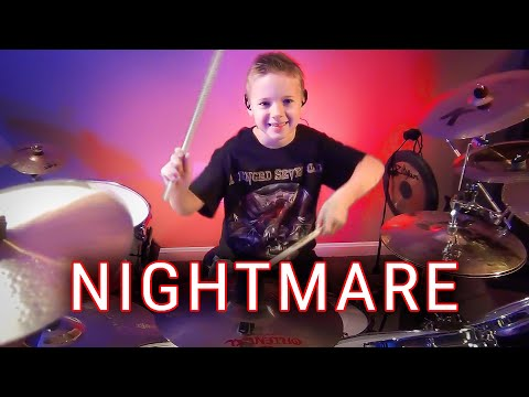 Nightmare - A7X (Drum Cover) 7 year old Drummer - Avery Drummer Molek