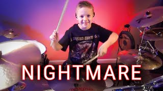 NIGHTMARE - A7X (7 yr old drummer) Drum Cover
