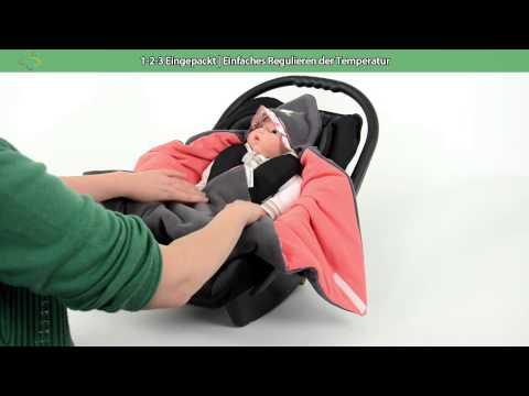 Praktische & kuschelige Einschlagdecke / Babyschalendecke - von HOBEA-Germany