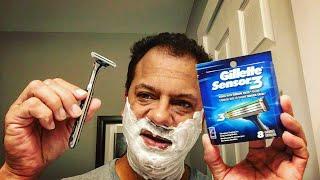 Gillette Mach 3 Turbo v. Sensor Excel 3 Blade   Day 9  #ShaveWars