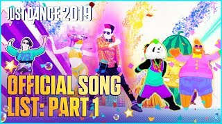 Just Dance 2019: Official Song List – Part 1 [US]