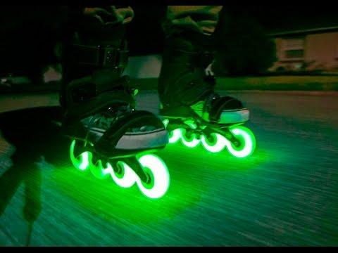 Inline skate Glowing wheel edit/review