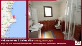 preview picture of video '4 dormitorios 3 baños Villa se Vende en Benidoleig, Alicante, Spain'