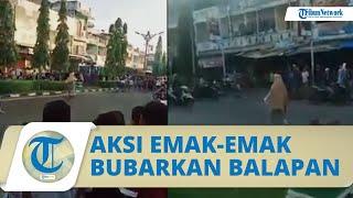 VIRAL Aksi Emak-emak Bubarkan Balap Liar di Jambi, Tutup Jalan Pakai Kursi hingga Hampiri Pengendara