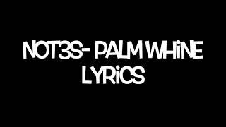 Not3s  Palm Whine Lyrics