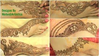 Henna Mehendi Designs By MehndiArtistica:New Mehandi Patterns 2016(Gulf Rose,Peacock Leg)