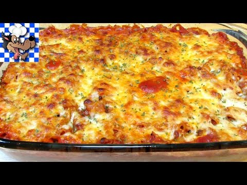 Video Baked Chicken and Penne Pasta Casserole - $10 Budget Meal Series