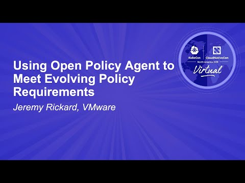 Image thumbnail for talk Using Open Policy Agent to Meet Evolving Policy Requirements