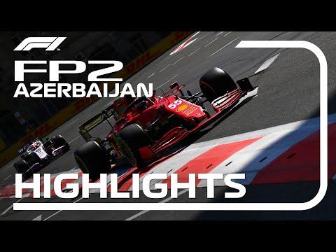 F1 アゼルバイジャンGP 市街地コースで行われるあアゼルバイジャンのFP2ハイライト動画