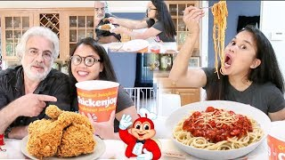 JOLLIBEE MUKBANG + What Tommy Think - ( Fil-Am Vlog )