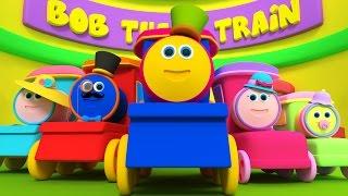 боб поезд палец семьи | палец песня | 3d потешки для детей | Kids Train | Bob Train Finger Family