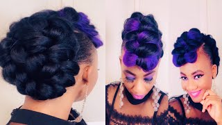 How To Create A Braided Mohawk Hairstyle In Less Than 1/2 Hour || $15 Protective Updo