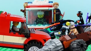 LEGO City Vehicles (COMPILATION 5) STOP MOTION LEGO Fire Engine, Digger, Cars | LEGO | Billy Bricks