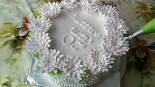 Украшение тортов БелковоЗаварнымКремом.  Cake decoration Protein Custard Cream.