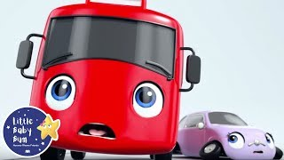 My Little Red Bus Gets A Gift | Go Buster | Baby Songs +More Nursery Rhymes | Little Baby Bum