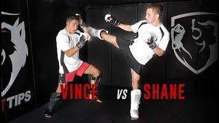 MMA Flow Drill: Strike/Takedown/Grapple (Shane & Vince Spar!)