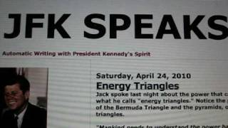 JFK SPEAKS - About Energy Triangles (Automatic Writing with JFK's Spirit)