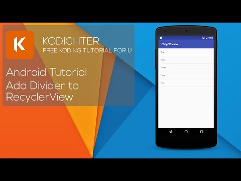 Android Studio Tutorial - Add Divider to RecyclerView