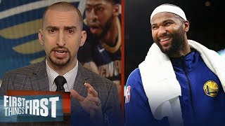 Nick Wright analyzes Boogie's impact on Warriors, talks AD's future | NBA | FIRST THINGS FIRST