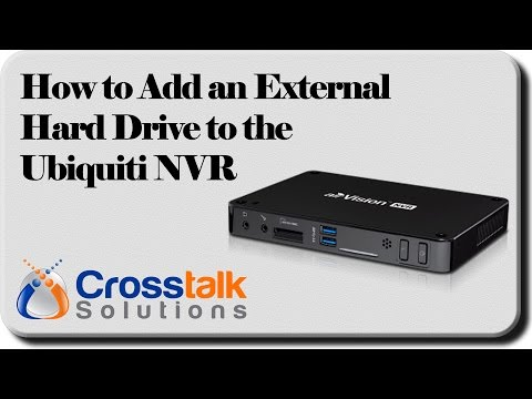How to Add an External HDD to the Ubiquiti NVR