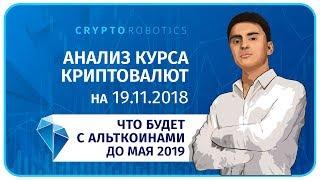 Прогноз Криптовалют. 19.11.2018. Что ждет Альткоины до мая 2019.