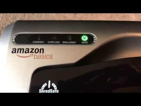 AmazonBasics 12 Sheet Cross-cut Shredder Review