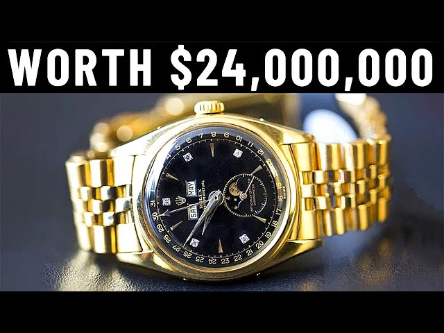 The $24,000,000 Rolex Watches