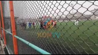 Konya'da oynanan maçta kadın futbolcular hakeme saldırdı