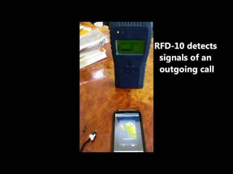 RFD-10 4G LTE 3G Cell Phone Prison Detector finding SMS