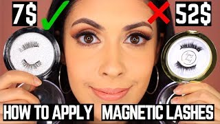 How to apply Magnetic Lashes | 7$ Magnetic Lashes vs 52$ Magnetic Lashes Comparison