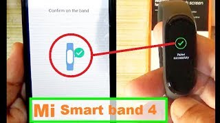 Mi Smart Band 4 -  How To Setup And Unboxing | How To Connect Mi Band 4 With Phone # Mi Smart Band 4