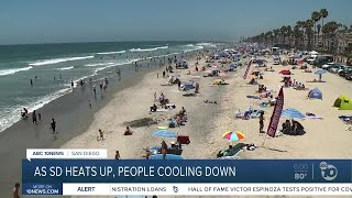 As San Diego heats up, people cooling down