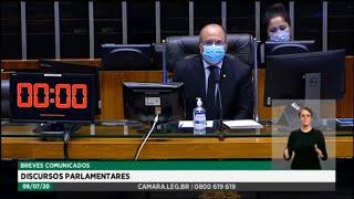Plenário - Breves comunicados - Discursos parlamentares - 09/07/2020 12:55