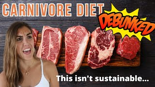 The Carnivore Diet DEBUNKED! (IN 2 MINUTES)