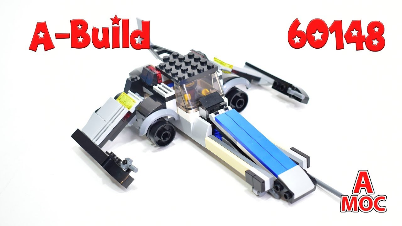 SW Starfighter alternative build LEGO 60148. review (A MOC)
