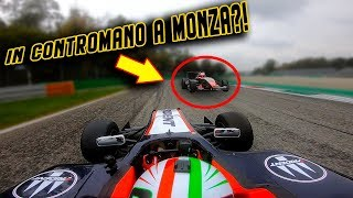 IN MONZA IN THE WRONG DIRECTION!! 😱PURE SOUND FORMULA3(GP3) TEST