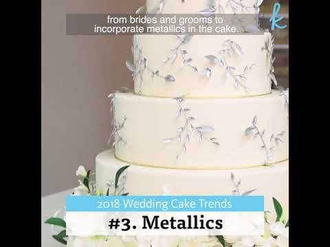 Wedding Cakes Trends 2018 - TheKnot