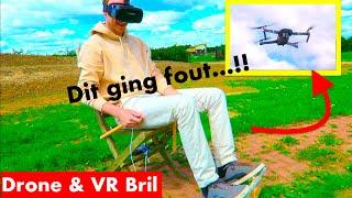 DRONE VLIEGEN MET DJI MAVIC PRO IN ZELFGEMAAKTE COCKPIT & VR BRIL!